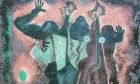 Byron Gálvez painting